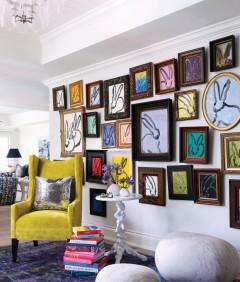 Madelyn Jordon Fine Art Hunt Slonem in Jimon magazine, Home & Design, and New Orleans Home & Lifestyles