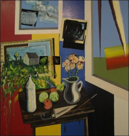 Madelyn Jordon Fine Art 2016, in with a POP!   PETER NADIN Still life with Figs and Flowers