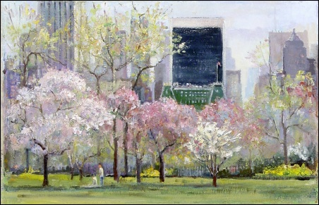 Madelyn Jordon Fine Art Lawrence Kelsey: New York in Bloom