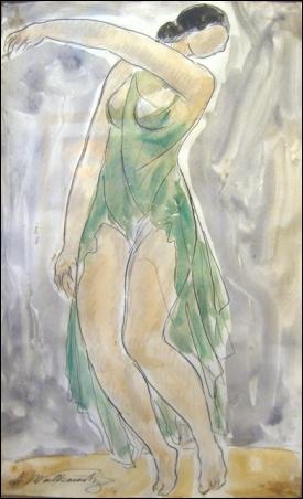 Madelyn Jordon Fine Art Bejeweled, Bewitched, Bedazzled Abraham Walkowitz: The Dancer (Isadora Duncan)