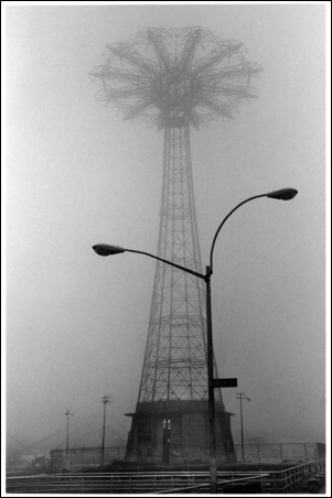 Madelyn Jordon Fine Art By The Sea Harvey Stein; Parachute Jump in Fog