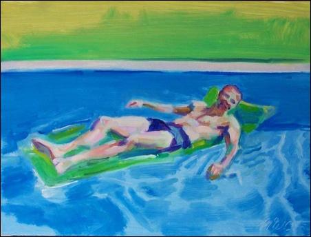 Madelyn Jordon Fine Art SURF & TURF McWillie Chambers, Floating Man