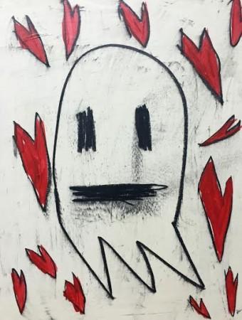 Madelyn Jordon Fine Art 2016, in with a POP!  ADAM HANDLER Love Ghost
