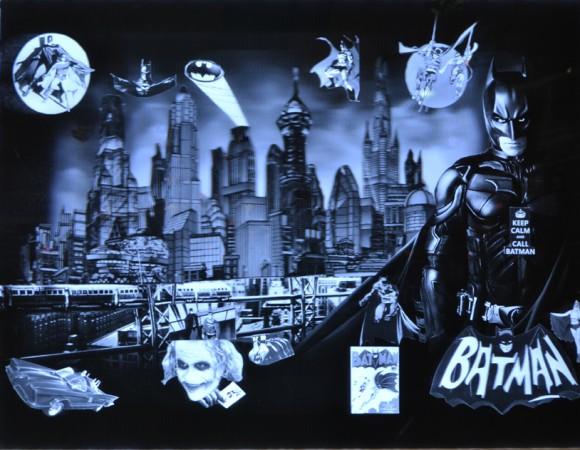 Madelyn Jordon Fine Art 2016, in with a POP!  Batman in Gotham