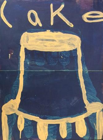 Madelyn Jordon Fine Art 2016, in with a POP!  GARY KOMARIN Cake (dark blue)