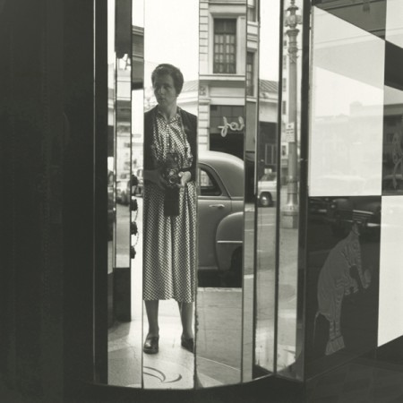 Madelyn Jordon Fine Art VIVIAN MAIER REVEALED: SELECTIONS FROM THE ARCHIVES Self-portrait, San Diego, California, September 25, 1955, Printed 2016, Gelatin silver print, Ed. 14/15