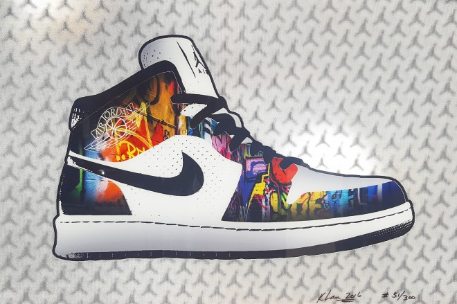 "Madelyn Jordon Fine Art 3D Holiday KENG LAU ""Air Jordan 1"""