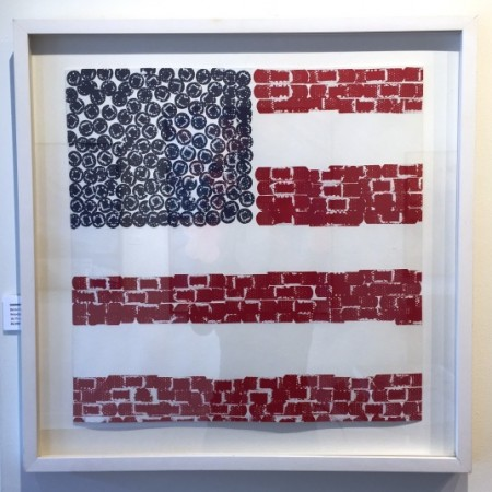 Madelyn Jordon Fine Art 2016, in with a POP!   LUCY WHITE Flag