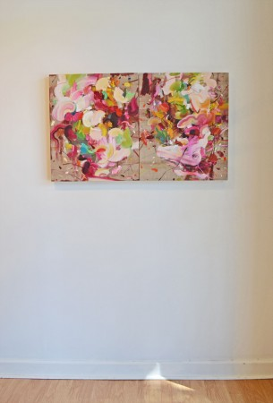Madelyn Jordon Fine Art YANGYANG PAN :East Meets West in Contemporary Abstraction Install 9