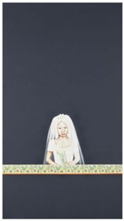 Madelyn Jordon Fine Art LOCAL/GLOBAL: A Group Exhibition Su-en Wong, Dark Painting with Girl as Child Bride