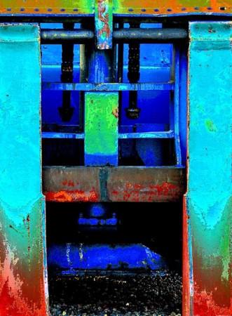 Madelyn Jordon Fine Art SURF & TURF Eugene Healy, Untitled, (Neon Train)