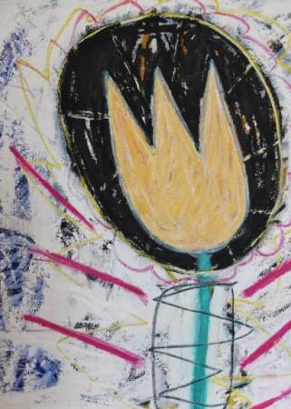 Madelyn Jordon Fine Art ADAM HANDLER: REBEL REBEL Free Falling Tulip
