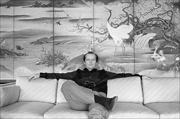Madelyn Jordon Fine Art ALLAN TANNENBAUM: GRIT AND GLAMOUR Jack Nicholson on the sofa in his room at the Carlyle Hotel