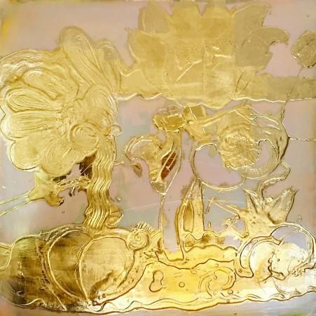 Madelyn Jordon Fine Art Catherine Howe Opal Painting (gold)