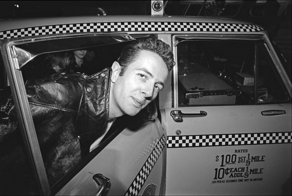 Madelyn Jordon Fine Art ALLAN TANNENBAUM: GRIT AND GLAMOUR The Clash arrive at JFK - Joe Strummer getting into a taxi