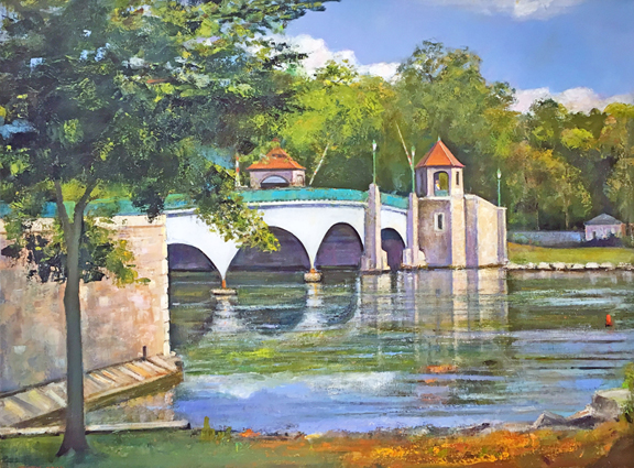 Madelyn Jordon Fine Art IN DIALOGUE Lawrence Kelsey, Glen Island Bridge, New Rochelle