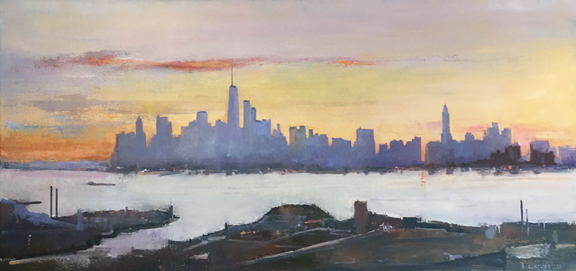 Madelyn Jordon Fine Art IN DIALOGUE Lawrence Kelsey, New York, From Brooklyn Heights