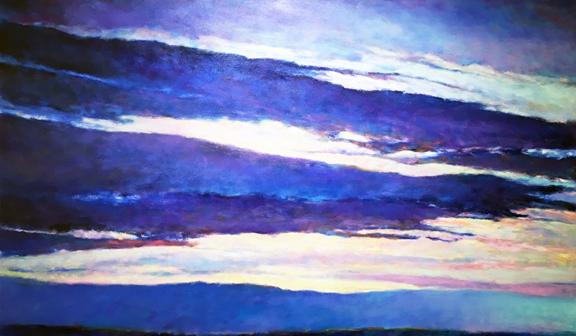 Madelyn Jordon Fine Art IN DIALOGUE Ken Elliott, Blue Skyscape