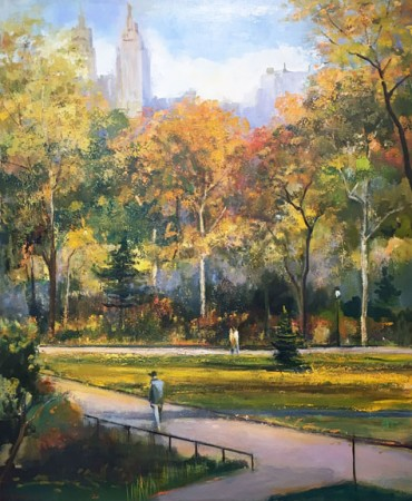 Madelyn Jordon Fine Art IN DIALOGUE Lawrence Kelsey, Autumn Afternoon Walk