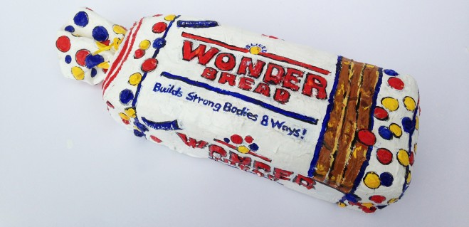 "Madelyn Jordon Fine Art 3D Holiday LESLIE LEW ""Wonder Bread"""