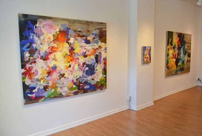 Madelyn Jordon Fine Art YANGYANG PAN :East Meets West in Contemporary Abstraction Install 2