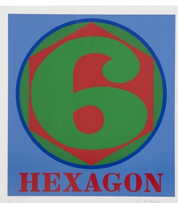 Madelyn Jordon Fine Art 2016, in with a POP!   ROBERT INDIANA Hexagon