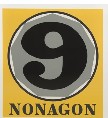 Madelyn Jordon Fine Art 2016, in with a POP!   ROBERT INDIANA Nonagon