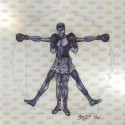 "Madelyn Jordon Fine Art 3D Holiday KENG LAU, ""Vitruvian Boxer"""