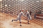 "Madelyn Jordon Fine Art 3D Holiday DJ LEON, ""Babe Ruth Warming Up to Pitch for the Red Sox at the 1918 World Series"""