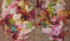 Madelyn Jordon Fine Art YANGYANG PAN :East Meets West in Contemporary Abstraction Romantic Woods 1 and Romantic Woods 2