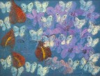 Madelyn Jordon Fine Art HUNT SLONEM: BUNNIES, BIRDS, and BUTTERFLIES Anthurium and Vandas