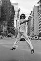 Madelyn Jordon Fine Art ALLAN TANNENBAUM: GRIT AND GLAMOUR James Brown jumps on Broadway, New York City