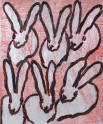 Madelyn Jordon Fine Art HUNT SLONEM: BUNNIES, BIRDS, and BUTTERFLIES Red Rover