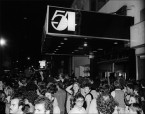 Madelyn Jordon Fine Art ALLAN TANNENBAUM: GRIT AND GLAMOUR Studio 54 Logo/Crowds