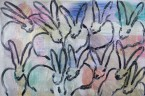 Madelyn Jordon Fine Art HUNT SLONEM: BUNNIES, BIRDS, and BUTTERFLIES 3