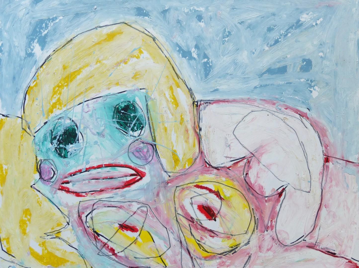 Madelyn Jordon Fine Art ADAM HANDLER: BETWEEN NIGHTMARES AND FAIRY TALES Reclining Nude Study