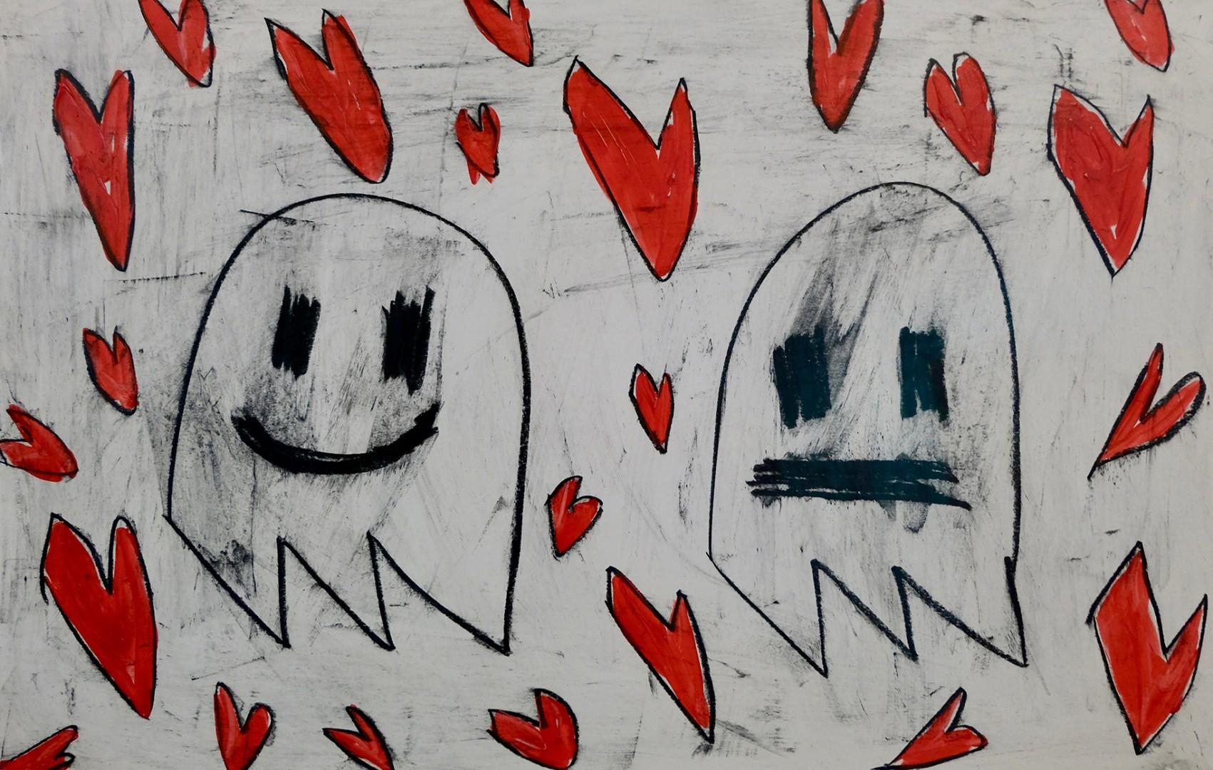 Madelyn Jordon Fine Art ADAM HANDLER: BETWEEN NIGHTMARES AND FAIRY TALES Valentine Ghosts