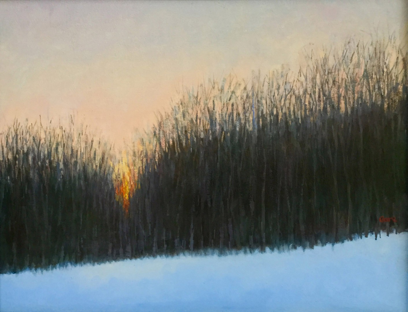 Madelyn Jordon Fine Art STAGING NATURE: A WORLD UNTO ITSELF Last Light, Winter