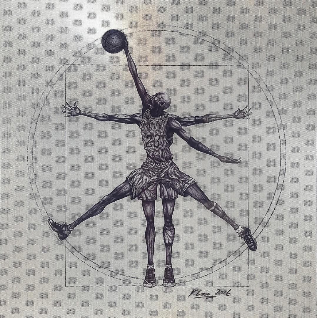 Madelyn Jordon Fine Art Keng  Lau Vitruvian Basketball