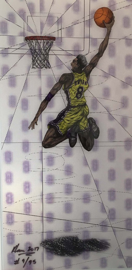Madelyn Jordon Fine Art Keng  Lau Flying Tomahawk (Kobe Bryant)