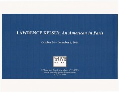 Madelyn Jordon Fine Art Exhibition Catalogue, LAWRENCE KELSEY: An American in Paris